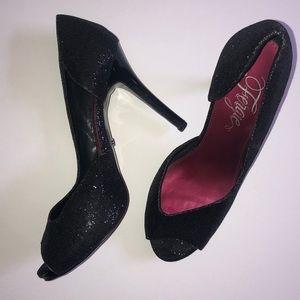 Black Sequin Stiletto's with Pink Interior 8